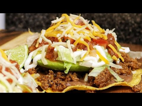 Ground Beef Tostadas - Mexican Food