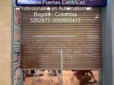 cortina enrollable electrica  YouTube