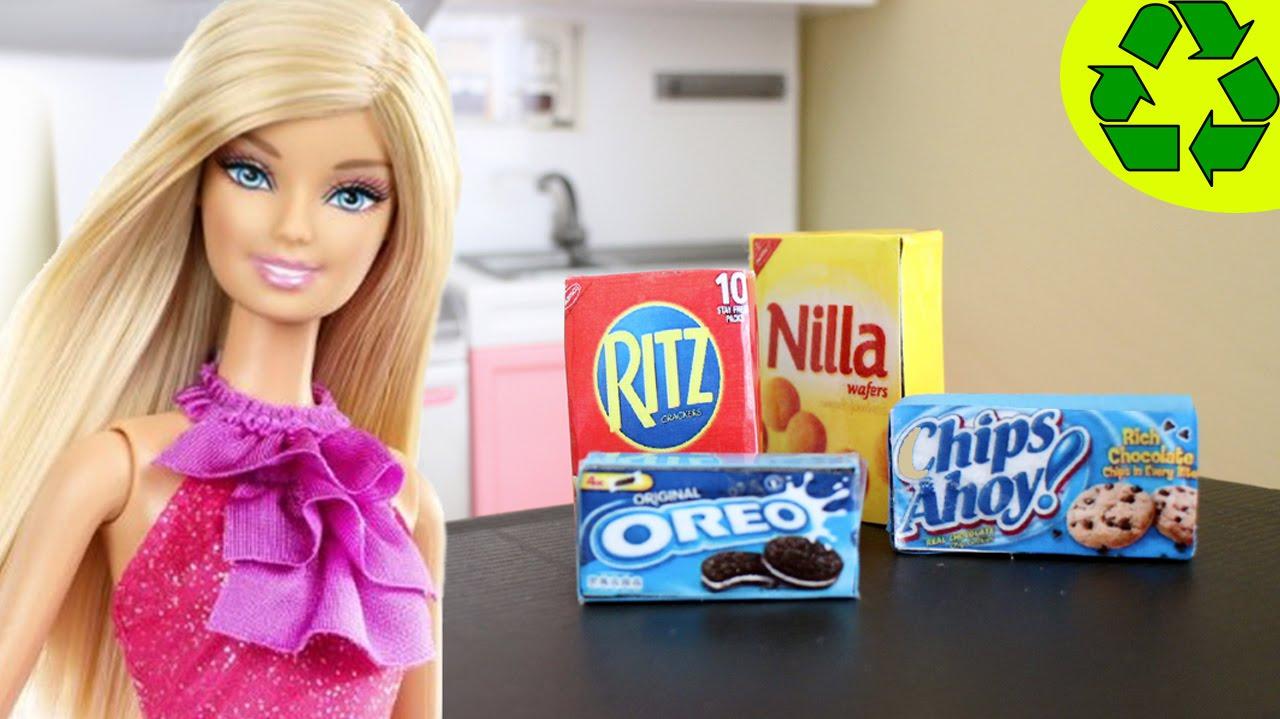Cómo hacer cajas de galletas realistas para tus muñecas ...