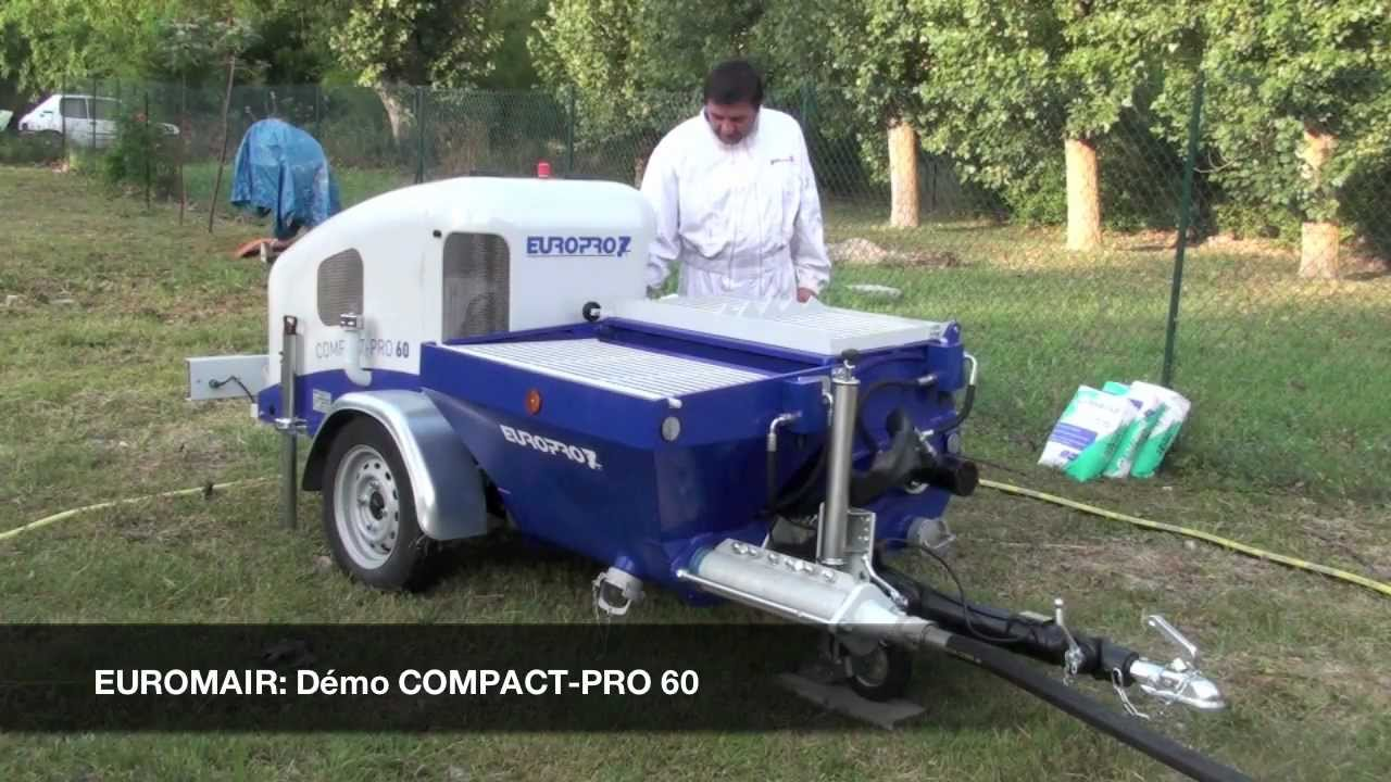 Compact pro 60 machine projeter thermique youtube - Machine a projeter enduit facade ...