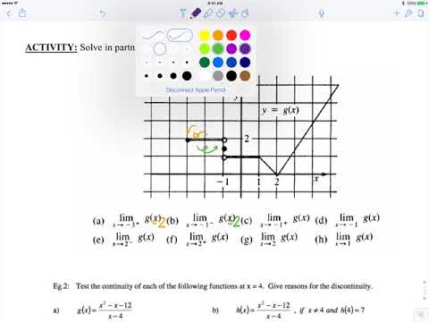 Continuity and Discontinuity Calculus Video Lesson