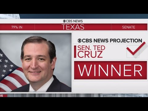 Ted Cruz wins tough election against Beto O'Rourke for Texas Senate seat
