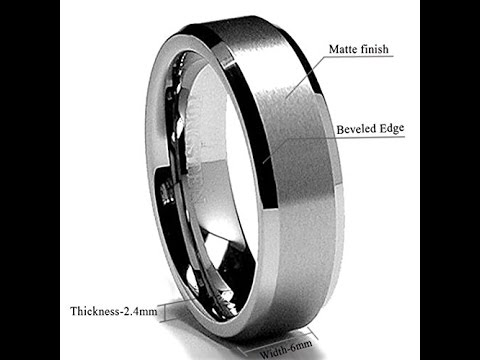 5dc61f1f36d King Will BASIC 6MM Wedding Band For Men Tungsten Carbide Engagement Ring