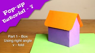 Pop-up Tutorial 7 - BOX Part 1. Right angle v-fold technique  Learn pop-up design in Tamil தமழ