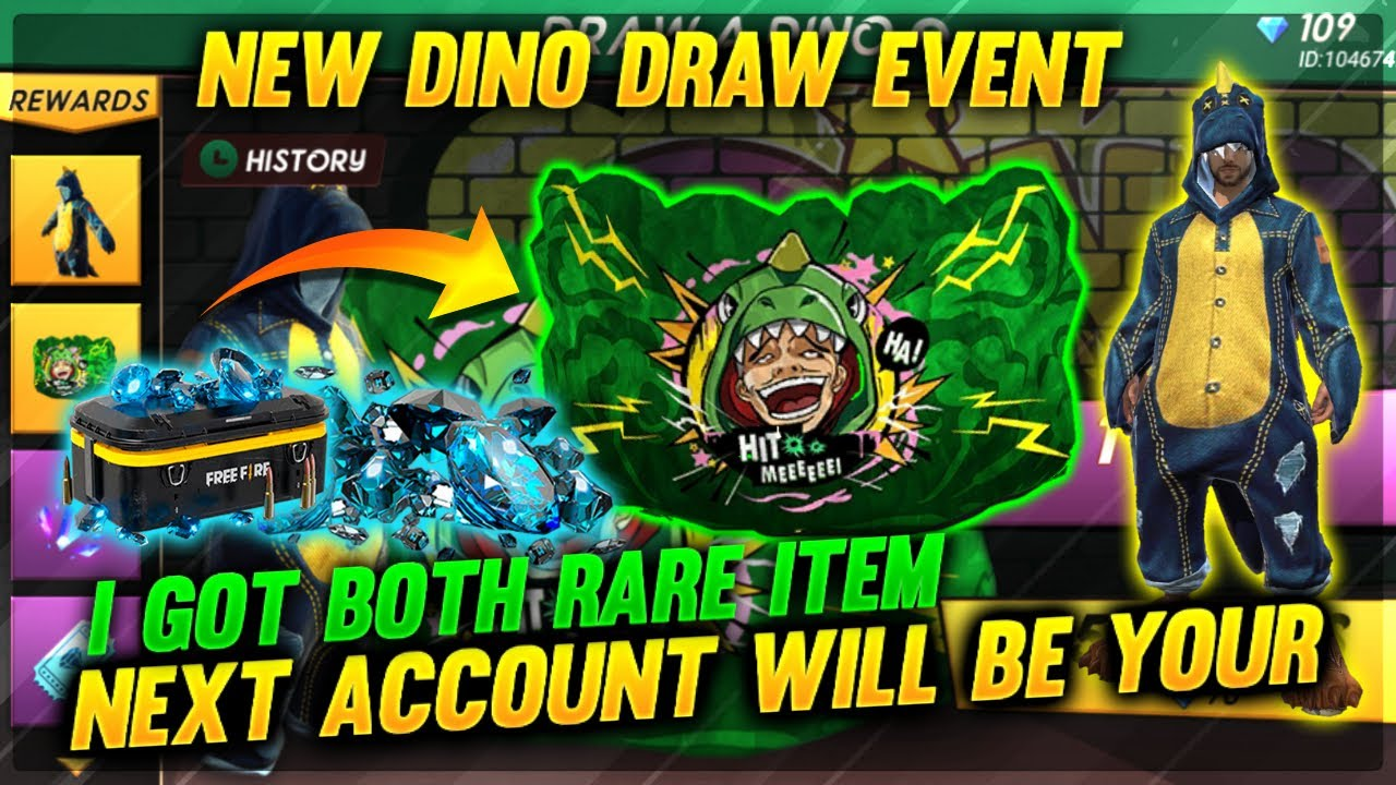 Draw A Dino Event Free Fire    Next Account Will Be Yours 🔥😍😍
