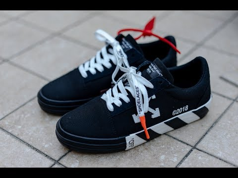 2b2cb32d These aren't vans?? | Off White Vulc Low Top Sneaker Review - YouTube