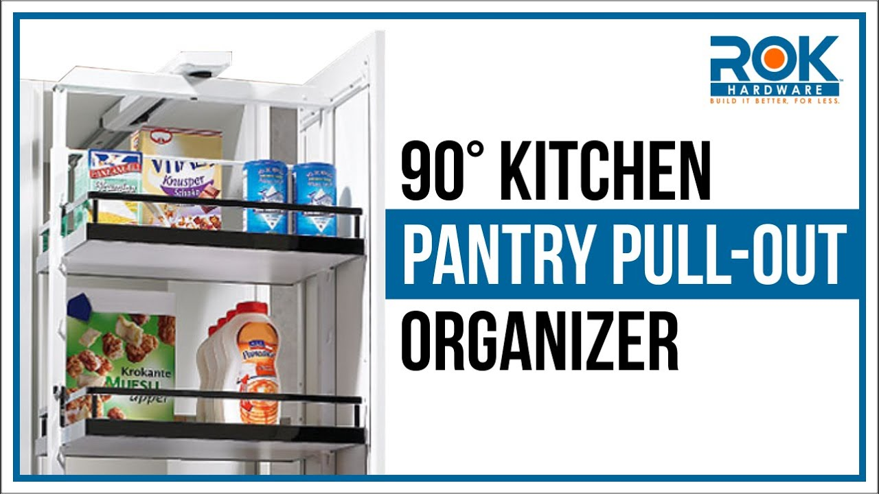 90° Kitchen Pantry Pull-Out Organizer - YouTube
