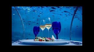 Ithaa Maldives Resort Hurawalhi. Restaurante sub-acuático en Islas Maldivas.