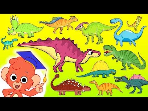 Dinosaur ABC | learn alphabet with 26 JURASSIC CARTOON DINOSAURS NAMES | animal ABC for kids 4K