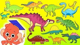 Çocuklar | alfabe dinozor karikatür için dinozor ABC | Öğrenmek Dinozorlar