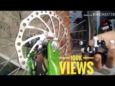 How To Install Disc Brake In Any Cycle | Cheapest Disc Brake For Bicycle | Only For 500Rs