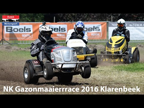 NK Gazonmaaierrace Klarenbeek 2016 | Crash & Highlights | Lawn mower race