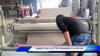 Paper roll slitter rewinder JS-SR1600