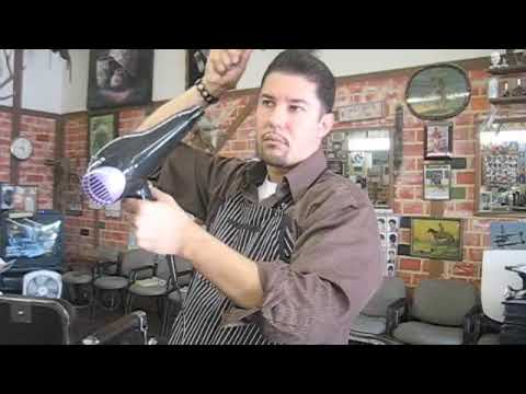 The Pompadour Alex the barber style at Barbershop (video cut of ...
