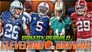2018 CLEVELAND BROWNS REBUILD | Saquon Barkley + Tyrod Go Off | Madden 18 Speedy Rebuild 2017 Video