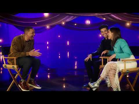 WILL SMITH Interviews Aladdin's Naomi Scott & Mena Massoud