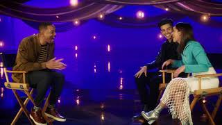 WILL SMITH Interviews Aladdin\'s Naomi Scott & Mena Massoud