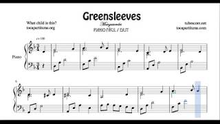 Greensleeves Partitura de Piano Mangasverdes Sheet Music for Pianists What Wild is This?