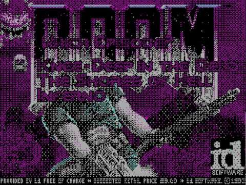 Doom on CGA (4-color and composite/colorburst mode) and EGA