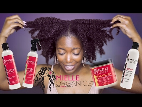 MIELLE ORGANICS DEMO & REVIEW | BRAIDOUT ON TYPE 4 NATURAL HAIR