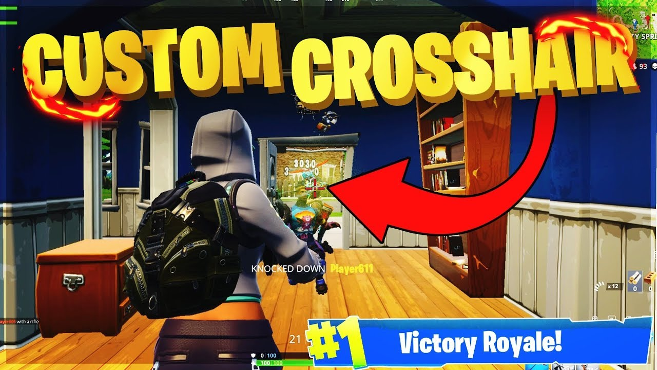 HOW TO USE A CUSTOM CROSSHAIR IN FORTNITE TO HELP YOU BE A PRO PLAYER  (Fortnite Battle Royale)