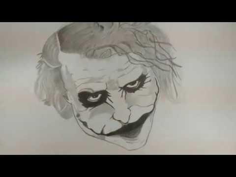 Pencil Drawing The Joker Heath Ledger Jsg Officals