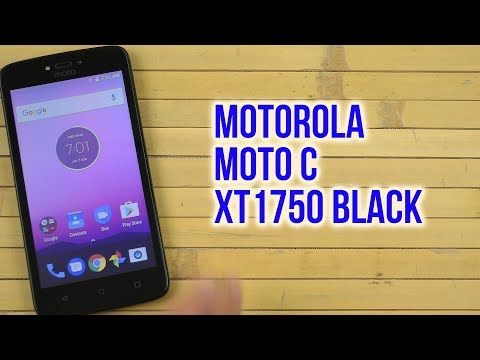 Распаковка Motorola Moto C XT1750 Black