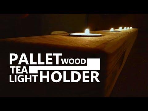 Tea light holder | Palletwood | DIY | Scrapwood