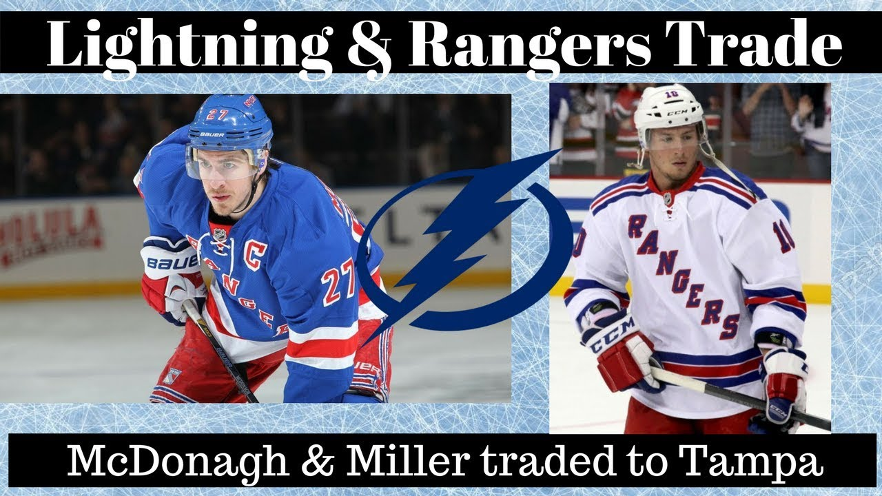 Rangers trade Ryan McDonagh, JT Miller to Lightning in blockbuster