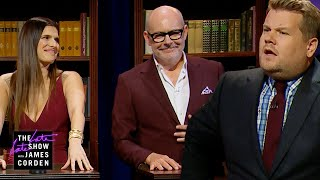 James Embarrasses Himself in Book Quiz w/ Lake Bell & Rob Corddry