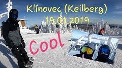 Snowboard fahren auf dem Klínovec (Keilberg)