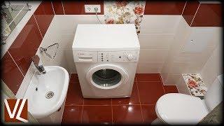 Гостевой туалет в красно-белом стиле / Vanna Lip / Ванна лип
