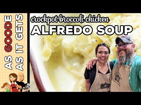 Broccoli Chicken Alfredo Soup (Low Carb)