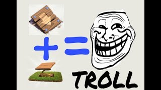 PUSH TRAP + SPRING TRAP = TROLL l Clash of Clans l TROLLING ON BOXER GIANTS