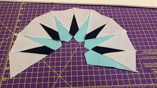 """Strip Piecing """"Mariner's Compass"""" Method"""