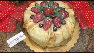 Блинный торт с фруктами: рецепт от Foodman.club