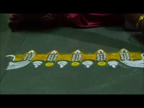 Diwali border rangoli Creative rangoli