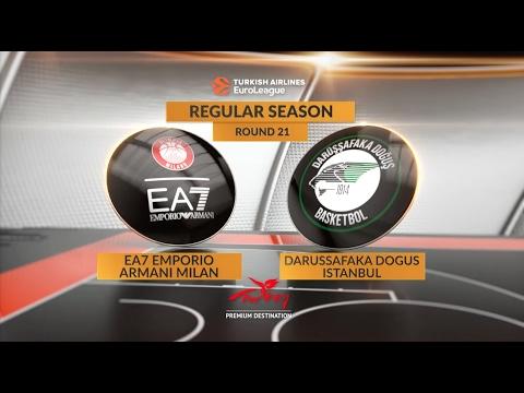 Highlights: EA7 Emporio Armani Milan-Darussafaka Dogus Istanbul