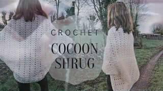 Crochet Cocoon Shrug CardiganSizes S-5XL