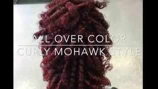 Influance Hair Color With Curly Mohawk Style
