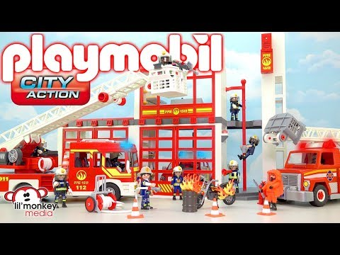 Playmobil City Action! Build and Play Fire Station, Fire Truck, Firefighters and More!! 🔥