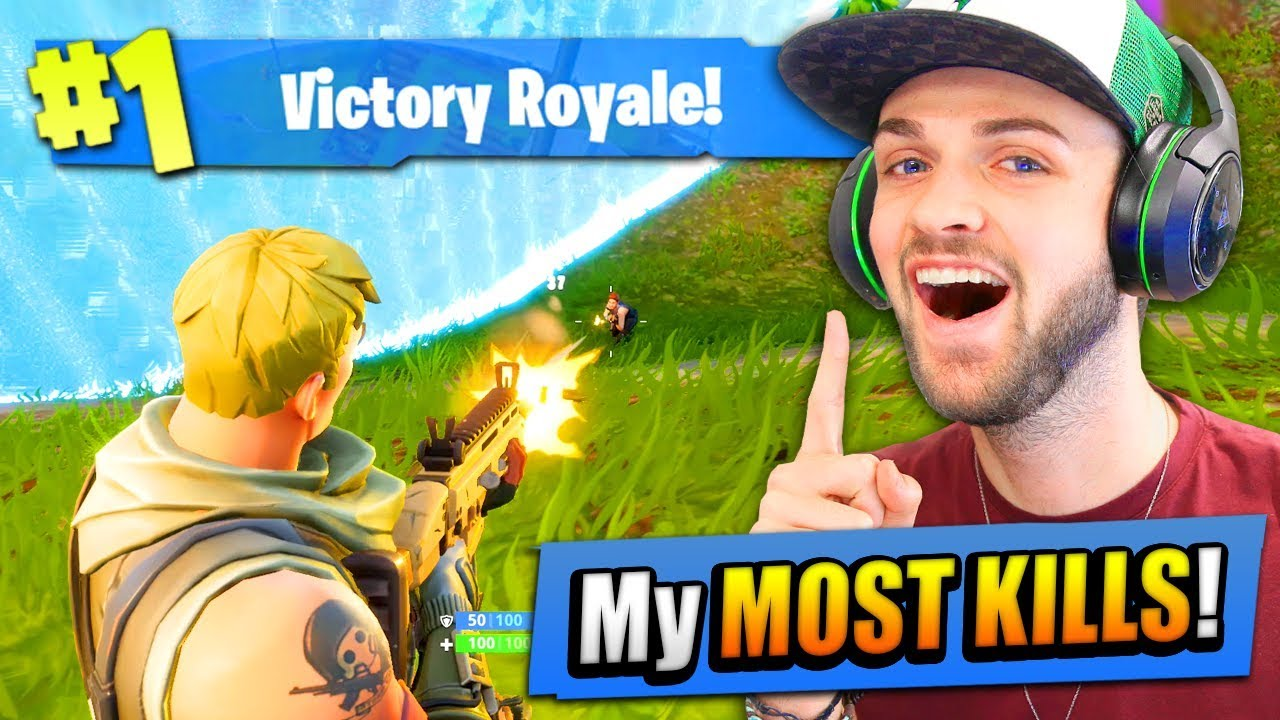 My Most Kills On Fortnite Battle Royale Ever Youtube