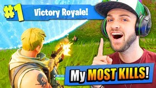 My MOST KILLS on Fortnite: Battle Royale EVER!!