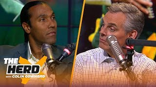 T. J. Houshmandzadeh finds Aaron Rodgers opinion on team drills 'odd,' talks Browns | NFL | THE HERD