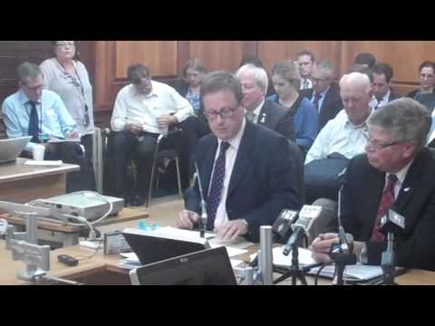 GCSB and SIS Directors at First Public Intelligence and Security Committee Meeting