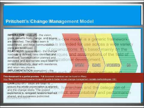 Snaps Guide To Better Known Change Management Methodologies