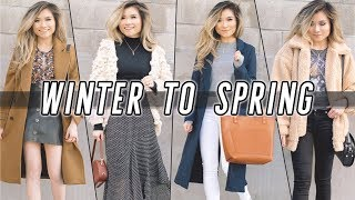 WINTER to SPRING Transitional Lookbook | 2018 Spring Outfit Ideas | Miss Louie