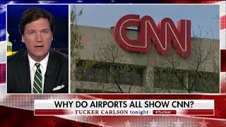 Why is CNN always on at the airport?