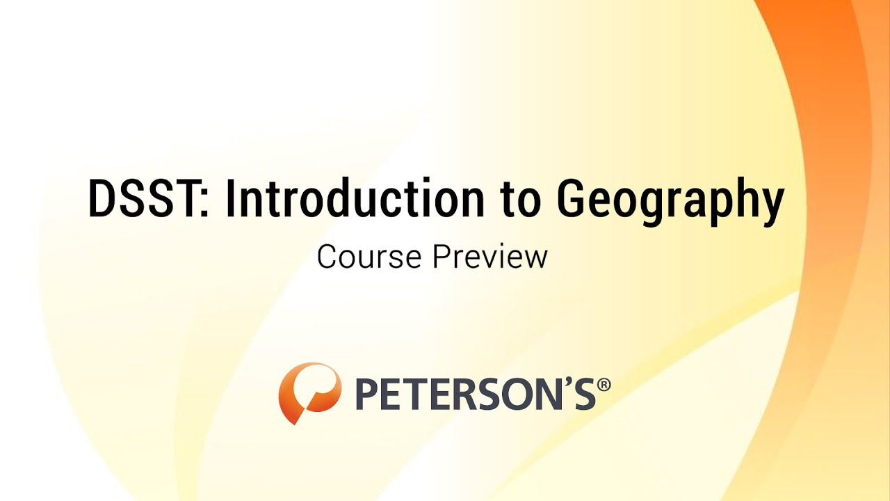 Introduction To Geography Dsst Instructional Videos Exam Prep
