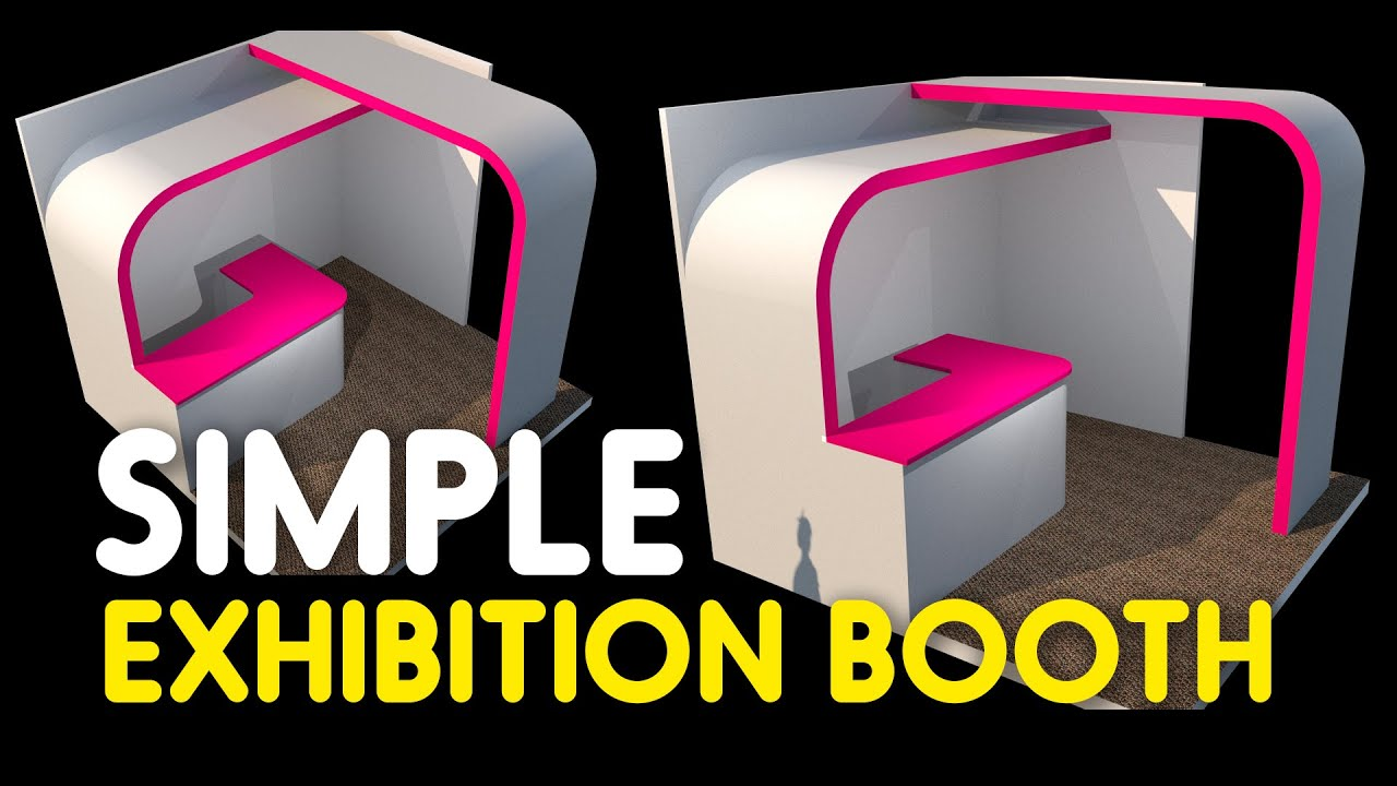 Making Exhibition Booth With Google Sketchup Youtube
